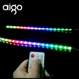 2019 tira de iluminación de la caja de led DR12 Case Light Stripes Barras de luz RGB sincronización sincronizada de colores con placa base y ventiladores LED Chassis stripes tira de iluminación de la caja de led baratos