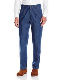 2019 schmiedeeisener mann Haggar Men's Work To Weekend - Mittlere, stonewashed No-Iron Pleat-Front-Jeans rabatt schmiedeeisener mann