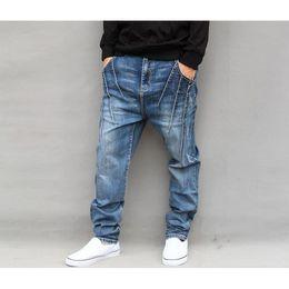 0ff5eae78e 2019 pantalones vaqueros cónicos Pantalones vaqueros para hombres  Pantalones harem Pantalones vaqueros de mezclilla Gota suelta