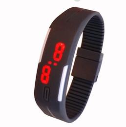 Relógio eletrônico do diodo emissor de luz do relógio do silicone de Genebra do relógio do bracelete dos esportes da forma de