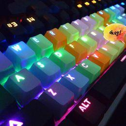 Regenbogenseite online-Neu - Seite bedruckt oben bedruckt leer PBT 37 Tastenkappe plus Space Key Cap Puller Regenbogen für mechanische Tastatur