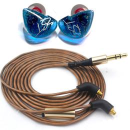 Cobres de auriculares online-2019 PIZEN Senfer UE ZST Dynamic in Ear Earphone HIFI MMCX con cable de cobre plateado y auricular Bluetooth para teléfono KZ APTX