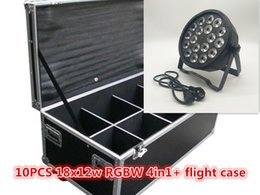 Argentina Flight Case + 10pcs 18x12w led par light RGBW 4 en 1 DMX luces de escenario de plástico dedicado fiesta familiar bar disco dj efectos de iluminación de escenario supplier plastic flight Suministro