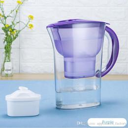2019 membranas de filtro New Household Jarro De Água De Carvão Ativado Remover Balança Purificador De Água Chaleira 2.5L Cozinha Filtro De Água Potável