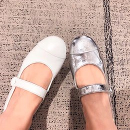 2019 robes mary jane Chaussure Mary Jane Single Silver blanche pour femmes promotion robes mary jane