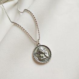Gioielli dell'angelo custode online-Quanlity 925 figura immagine custodi argento pendenti angelo collana di disegno collana selvaggia per gioielleria da donna