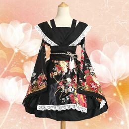 2019 traje cosplay kimono maid S-3XL Top Quality Maid equipado vestuário Cosplay Kimono vestido Maid Costume Lolita desconto traje cosplay kimono maid