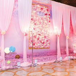Casamento no windows on-line-Fundo do casamento Da Flor Da Parede Simulado Loja de Flores Decoração de Flores Rosa Hortênsia Tapete De Seda Falso Flor Arranjo de Palco