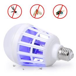 2019 bug zappers Protezione ambientale Lampadina a risparmio energetico LED anti-zanzara per illuminazione domestica Bug Zapper trap lampada insetto Anti repellen sconti bug zappers