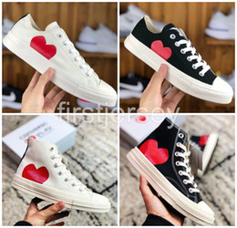 2020 sapatas do mandril 1970 Big Eyes Play Chuck 70 Multi Heart 70 Hi Canvas Skate Shoes Classic 1970 trainers Together Name skate Casual Sneakers sapatas do mandril barato