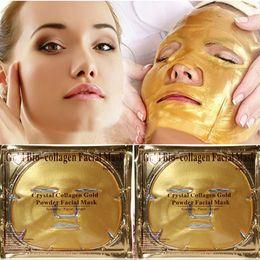 2019 pilaten pore strip en gros Masque pour le visage au bio collagène or Crystal Masque pour le visage en or Masque anti-âge pour faire face au masque facial en poudre au collagène Crystal Gold Hydratant