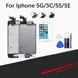 Canada Ecran LCD complet pour iPhone 5 / 5C / 5S / SE Ecran LCD tactile Digitizer Remplacement complet Pantalla + Bouton + Caméra supplier iphone 5c camera replacement Offre