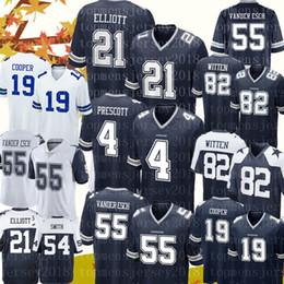 611c4b347db 21 Ezekiel Elliott 4 Dak Prescott Dallas Cowboys jersey 55 Leighton Vander  Esch 82 Jason Witte 19 Amari Cooper 54 Jaylon Smith Football