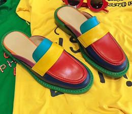 Zapatos casuales con estilo holgados online-2019 Nuevo Graffiti Elegantes Zapatos de Mujer de Lujo Mocasines de Diseño de Marca de Alta Calidad de Cuero de Lujo Zapatos Casuales 35-40