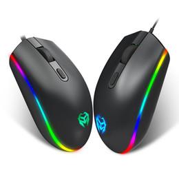 2019 laptop-tasten Heißer Verkauf USB Wired Mouse Professionelle 4 Tasten Optische Gaming Mäusemäuse LED Leuchtende Mäuse für PC Laptop-Computer günstig laptop-tasten