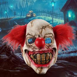 masques de clown effrayants Promotion Plein visage Latex Halloween Masque Effrayant Clown Costume Mal Partie Creepy Masques Masques D'horreur Adulte