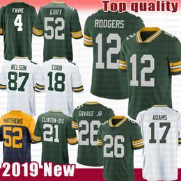 Grüne bucht trikots online-Green Bays Jersey Packers 12 Aaron Rodgers 26 Darnell Savage Jr. 17 Davante Adams 4 Brett Favre Matthews 52 Rashan Gary 23 Alexander Nelson