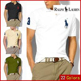 2019 projetos de camisas polo Para Homens Designer POLO Ralph Americano marca de design dos homens de algodão fivela dupla camisa polo moda avant-garde direto da fábrica desconto projetos de camisas polo