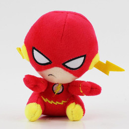 Muñecas negras para mayoristas online-Avengers juguetes de peluche 13 cm Superman Batman Animales de peluche Flash Pantera negra Quin Wonder Woman Sea King Super Hero muñecas de peluche al por mayor