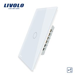 2020 interrupteur à distance livolo Livolo Fabricant, US Standard, écran tactile Wall Light Switch, 2Ways croix à distance par des commutateurs, commande position différente T200605 interrupteur à distance livolo pas cher