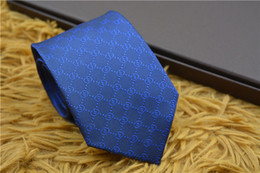 caixas de gravata por atacado Desconto Hot alta qaultiy homens laços de seda marca de moda Mens gravatas de pescoço RT552 luxo Designer de gravata carta de lazer de negócios para presentes navio rápido
