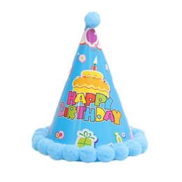 Itens de decoração de festa de aniversário on-line-1 PC Feliz aniversário decoração Do Chapéu suprimentos Crianças celebração cap Evento Festival de Fotografia Itens Para crianças