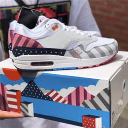 new products e1dda fb205 nike air max 1 87 airmax DLX ATMOS 1 87 Parra Sean wotherspoon Air Blue  Chaussures Casual Pour Homme Animal Pack 1s 87s Leopard Classique  Athlétique Femmes ...