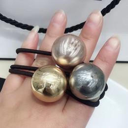 Banda di texture online-2.5X2.5CM C stile gold-ball texture capelli corda elastico accessori per capelli accessori per capelli copricapo moda vip regalo 4 pz / lotto