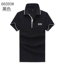 2019 camisas de marcas de nombre 19SS Best selling Mens Summer Polos 2019 Nueva marca de moda jefes camisa de lujo masculino de alto grado nombre carta bordado camisetas tamaño de las camisas M-XXL rebajas camisas de marcas de nombre