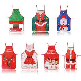 grembiuli da cucina per adulti Sconti Grembiule natalizio DHL Cotone lino scamiciato Decorazioni natalizie Ciondoli per adulti Bavaglini 50 * 70 cm Cucina per la casa Accessori da cucina