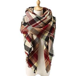 Écharpe d'hiver de nouvelles femmes classique écharpe écharpe femme chaud doux écharpes en cachemire Chunky grande couverture Wrap châle triangle écharpes ? partir de fabricateur