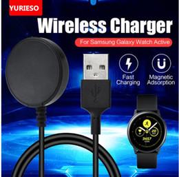 Akıllı İzle şarj dock Samsung Galaxy İzle Aktif SM-R500 için Standı Kablosuz Şarj Standı USB Manyetik hızlı şarj kablosu nereden