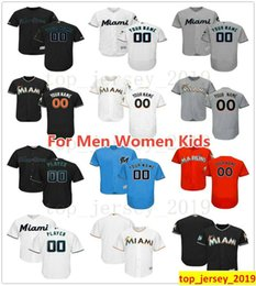 0884d3b6e66 miami baseball jersey 2019 - Custom Miami New Marlins Jose Urena JT Riddle  Magneuris Sierra Jarlin
