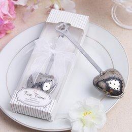 Favores de la boda infusor de té online-Fedex DHL envío gratis acero inoxidable en forma de corazón TeaTime Tea Infuser Tea party Favors Wedding Favor Souvenir LX7731