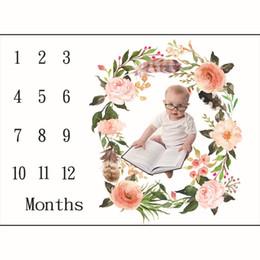 En gros INS enfants couvertures coton photo prop couvertures infantile emmaillotage lettre fleur numérique drap de lit bébé sac de couchage 100 * 100 cm 8 styles ? partir de fabricateur