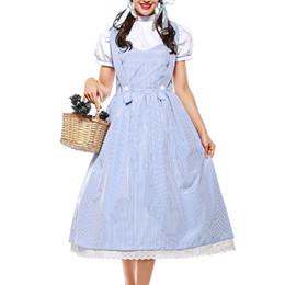 Robe alice en Ligne-2019 Nouveau Halloween Costume Conte De Fées Tablier Dress Coton Alice Dress Adult Ladies Stage Costume Vêtements