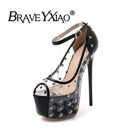 9087f358e1123 Rabatt 16cm Peep Toe High Heels | 2019 16cm Peep Toe High Heels im ...