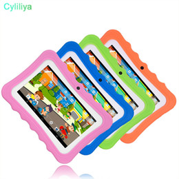 2019 tablet android 4.4 chino 2018 Kid Educativo Tablet PC Pantalla de 7 pulgadas Android 4.4 Allwinner A33 Quad Core 512MB RAM 8GB ROM Dual cámara WIFI Kids Tablet PC MQ50
