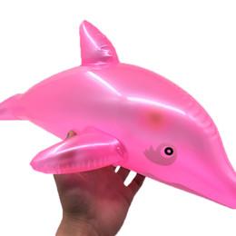 2019 großhandel delphin spielzeug Lucky Dolphin Air Inflation Spielzeug Simulation Tiermodell Badespielzeug Kinder Schwimmen Pool Spiel Requisiten Großhandel günstig großhandel delphin spielzeug