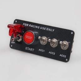 2019 12v botão do carro Modificação do carro 12 V LED Toggle Interruptor de Ignição Painel de Partida Do Motor Botão Set para Carro de Corrida desconto 12v botão do carro