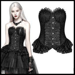 519949e220ee PUNK RAVE Women Gothic Lolita Black Elf Tops Fashion Steampunk Sexy Lace  Corset Evening Party Women Dress Shirt