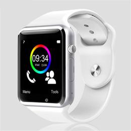 2019 medidor de ips Hot A1 Smart watch Bluetooth Smartwatch para IOS iPhone Samsung Android Teléfono Reloj inteligente Smartphone Relojes deportivos