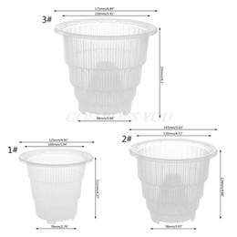 2019 éléphants en céramique en gros Pot en plastique clair orchidée jardinière contenant la fleur de jardinière décoration 125x111x70mm / 143x124x78mm / 175x155x98mm