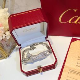 2019 braceletes de ouro branco 24k mulheres Charm Bracelet Nova High-end WSJ047 Jóias com caixa de presente requintado # 110514