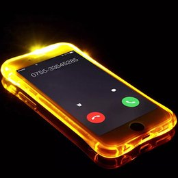 Caso de nota led on-line-Chamando light up case para iphone 8 7 6 plus ultra fino tpu led piscando a iluminação da tampa do telefone lembrete de entrada para samsung s8 s9 nota 8