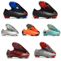 ankle boots us9 Promo Codes - Original Football Boots mens Mercurial Vapor XII Elite FG Neymar FG Soccer Shoes Low Ankle Vapor XII Cristiano Ronaldo CR7 Soccer Cleats