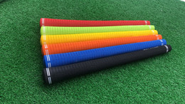 Tipos de golf online-Club de golf Grips de golf agarre hierro y madera dos tipos y colores, por favor deje un mensaje)