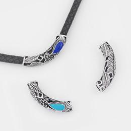 2019 röhrencharme für armbänder 10 stücke Antike Silber Charms Bent Tube Spacer Für 6mm Runde Lederband Armband Halskette Schmuck, Die Entdeckungen günstig röhrencharme für armbänder