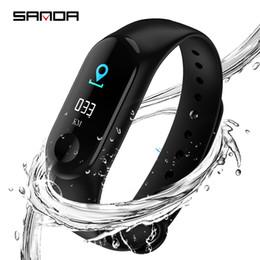 Sanda bluetooth smart watch farbdisplay männer sportuhren frauen intelligente gesundheit armband armbanduhr für ios android m3 von Fabrikanten