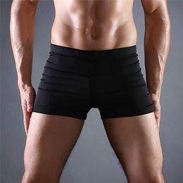 Canada 2019 nouveaux Mens Sexy Briefs Maillots De Bain Courir Pocket Beach Sous-vêtements Caleçons Sous-Vêtements Shorts de Bain à Séchage Rapide Taille # 2J19 supplier new sexy swimming trunks Offre